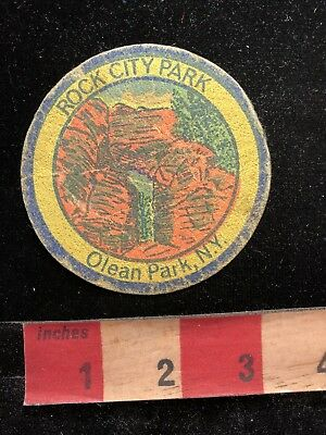 Thin, Vintage, Rare ROCK CITY PARK OLEAN PARK New York State Patch 83K
