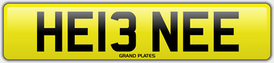 Helen Helena Helens number plate HE13 NEE CAR REGISTRATION HELEN E NO ADDED FEES