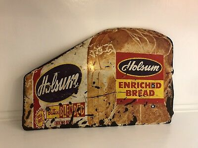 Vintage Holsum Bread Door Push Bar Sign Advertising Country Store Patina