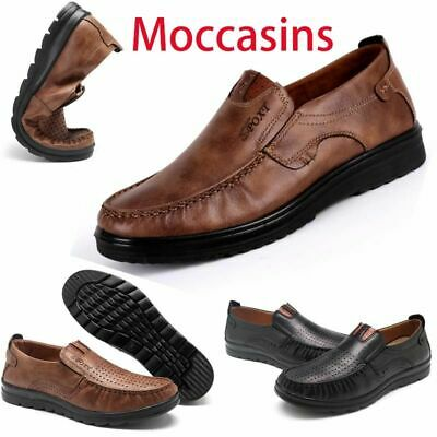 Casual Summer Men's Antiskid Loafers Suede Moccasins Breathable Leather Shoes