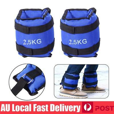 5KG 2x2.5kg Ankle Weights Sport GYM Weight Fitness Running Training Leg Sandbag