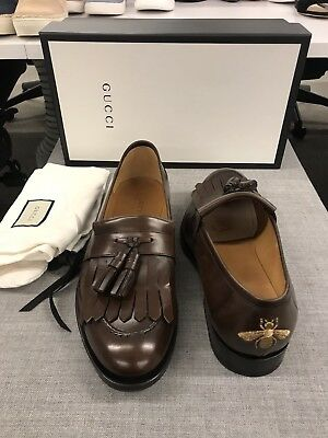 569c9334f Bnwt Gucci Men Brown Loafers Dress Bee Slippers Shoes Us 12 Uk 11 Queercore  $890
