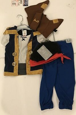 Disney Store Jake And The Neverland Pirates Costume Size 2 Brand New With Tags