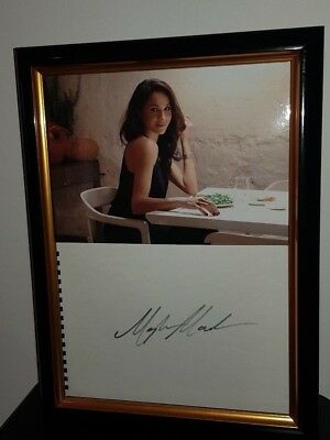 Hand Signed By Meghan Markle - With Coa - Framed Display Royal Prince Harry