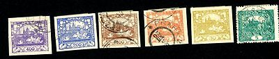 CZECHOSLOVAKIA 1918-1925 USED/UNUSED LOT OF 35 STAMPS FROM SC#6 to #130