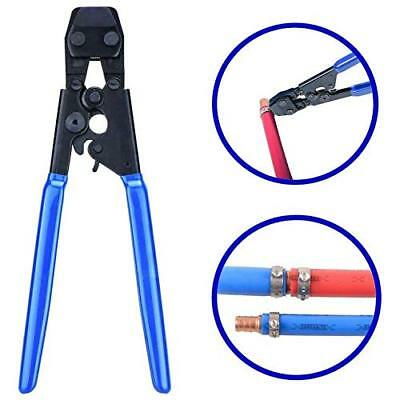 PEX Pipe Cinch Crimping Tool With 1/2 and 3/4 SS Hose Clamps Sizes Pipe Cutter