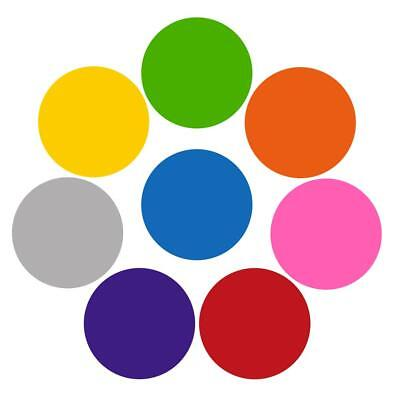 8Pcs Colorful Dry Erase Circles White Board Marker Removable Vinyl Dot Teaching