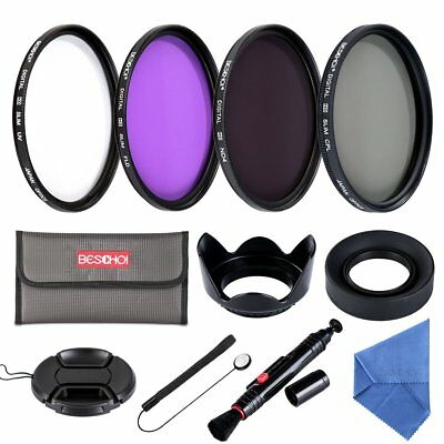 Beschoi 58mm UV CPL FLD ND4 Neutral Density Lens Filter Accessories Kit fr Canon