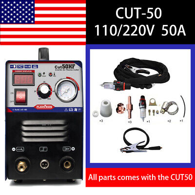 Plasma Cutter CUT50 Inverter 110/220V Dual Voltage Plasma Cutting + Good Sell