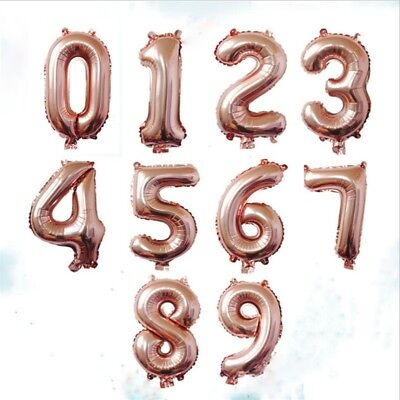 0-9 Number Foil Balloons Digit Helium Ballons Party Decor Birthday Wedding