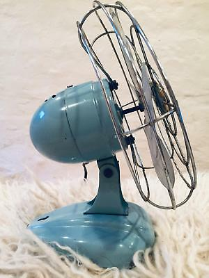 VTG 50s McGraw Electric Co ZERO 1250R Table Top Wall Fan Blue metal blades PARTS