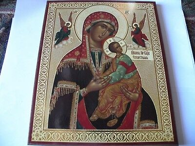 Beautiful Gilded  Madonna & Child Authentic Russian Icon