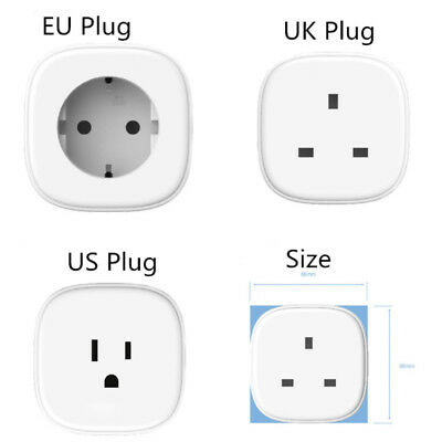 Mini WiFi Smart US Plug Power Socket Timer Outlet APP Remote Control For Alexa