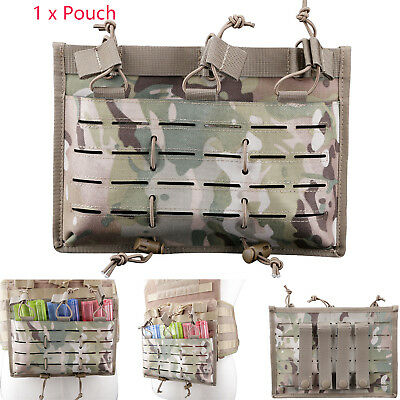 5.56 Laser Cut MOLLE Hunting Rifle Magazine Tactical Insert Bungee Triple Pouch