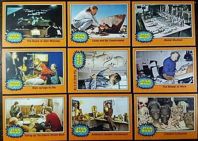 JOURNEY to Star Wars FORCE AWAKENS Behind the scenes  Card set of 9 topps  2015