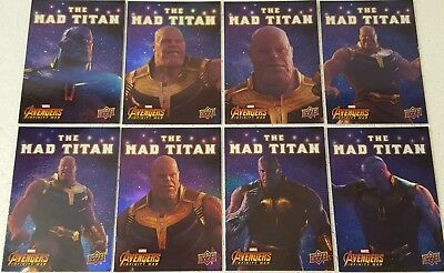 2018  Marvel Avengers Infinity War  MAD TITAN Card Set of 10 THANOS