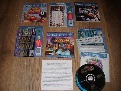 Dreamcast Manuals/back Inlays/covers/demo Disc (La Rush/sonic Etc)