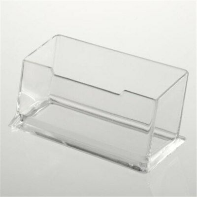 Acrylic Plastic Clear Desktop Business Card Holder Display Stand Desk Shelf E99
