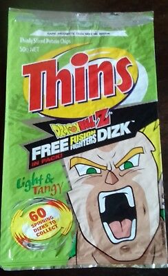 Collectable 'Dragon Ball Z' EMPTY CHIP PACKET - THINS - Light & Tangy