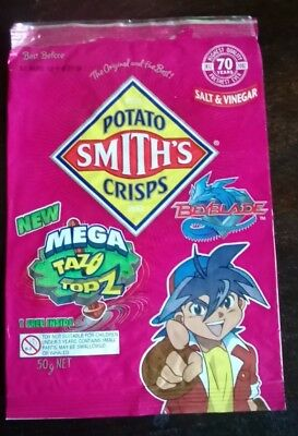 Collectable 'Beyblade' Empty Chip Packet - SMITHS Potato Chips - Salt & Vinegar