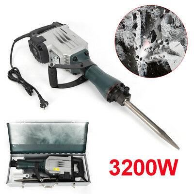3200W Electric Demolition Hammer Concrete Drill Breaker Kit Jackhammer Kit 220V