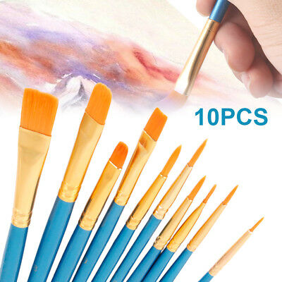 Artist Paint Brushes Kit Set Watercolour Acrylic Oil Painting Paints Craft Face