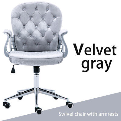 Velvet Office Chair Fashion Executive Computer Desk PU Leather Tilt Swivel Chair