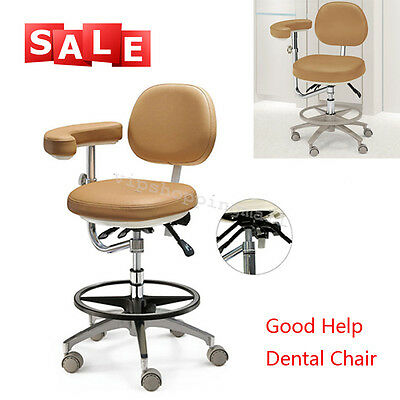 Movable Dental Adjustable Chair Soft PU Leather Doctor's Stool for Dentist CE