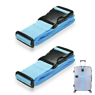 """2019 US Newest [2 pack] Luggage Strap Cross Straps For Large Suitcase 16""""~32"""""""