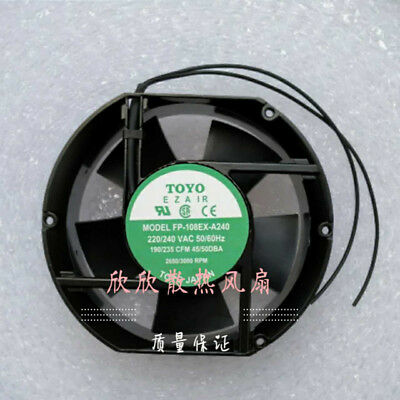 1PC TOYO FP-108EX-A240 220/240V 17CM Cabinet Cooling Fan