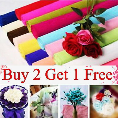 Florist Love Party Supplies Crepe Paper Flower Wrapping GiftS Wrap Streamer Roll