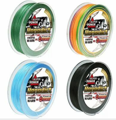 **FREE SHIPPING** 300m 500m 1000m BENEDICT Fishing Line PE Braid Yellow Black