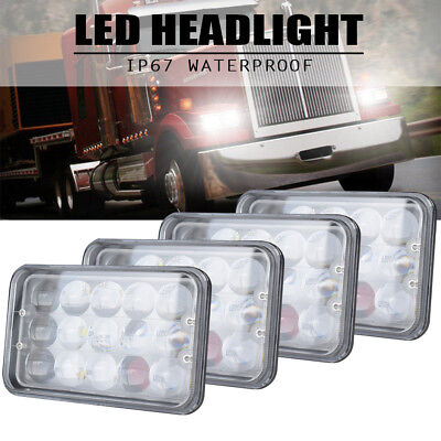 """4 PACK 4x6"""" DOT 40W LED Headlight (H4651 H4652 H4656 H4666 H6545 Replacement)"""