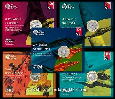 2018 RAF BU £2 Two Pound Coin Packs - Complete Set of 5 - Royal Mint Sealed