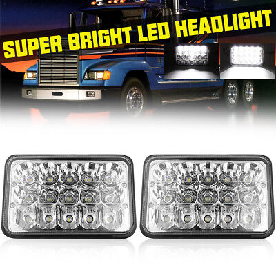2pcs 4x6inch Rectangular 45W LED Headlights(H4651 H4652 H4666 H6545 Replacement)