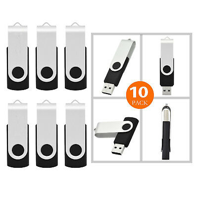 10 pcs Swivel USB 2.0 Flash Drive Thumb Drives  Memory Stick 16GB 8GB 4GB LOT