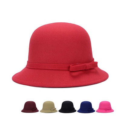 189c80c18 WOOL BLEND CLOCHE Ladies Great Gatsby 20s Bucket Flapper Party Felt ...