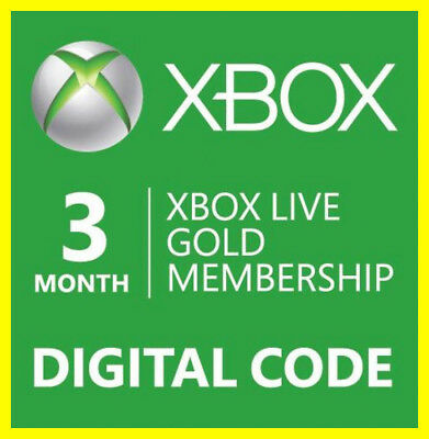 Xbox Live 3 Months GOLD Subscription Card GLOBAL| DIGITAL CODE 🔥FAST-DELIVERY🔥