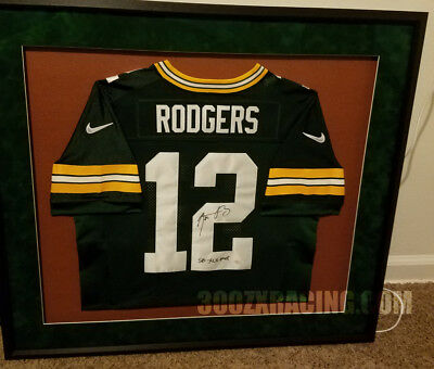5ad5701f200 Aaron Rodgers Signed Autographed w/ SB XLV MVP Nike Elite Packers Jersey