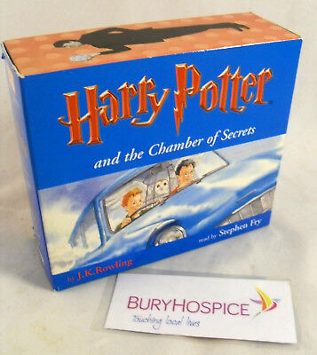 Harry Potter & The Chamber of Secrets 8 CD Audio Book Stephen Fry VGC (WH_5903)