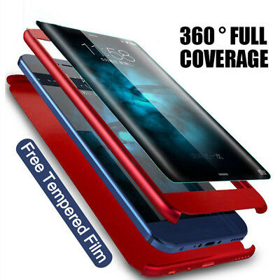For Xiaomi Redmi 6 6A 5 Plus 4X 4A With Tempered Glass 360° Protect Hard