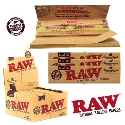 RAW® Classic Connoisseur King Slim Kingsize Rolling Papers + Tips FULL BOX 24