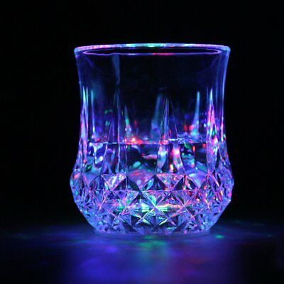LED Flashing Glowing Water Liquid Activated Light-up Wine Glass Cup Mug Party%B
