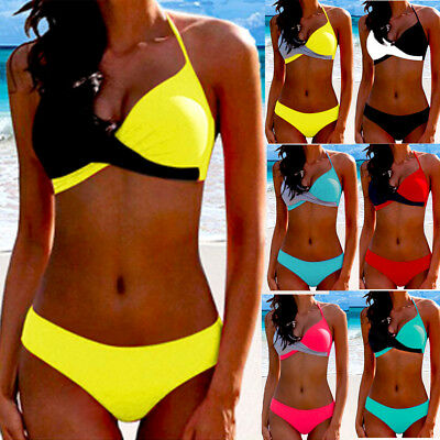 Womens Sexy Bikini Set Push-Up Padded Bra Swimwear Swimsuit Bathing Beachwear