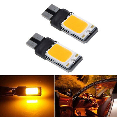 2*Amber Yellow  T10 194 W5W 168 LED Bulbs Canbus Car Side Wedge Marker Lights YU