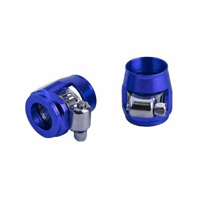 Car Modification Accessories An4 Tubing Clamp Accessories Practical Blue MU