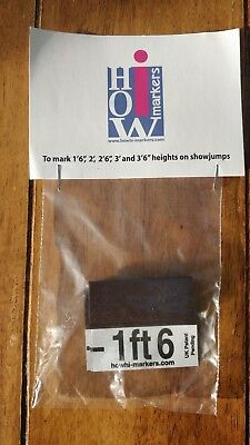 "Horse Show Jump Height Markers 1'6""-3'6"" for wings wood metal or plastic"