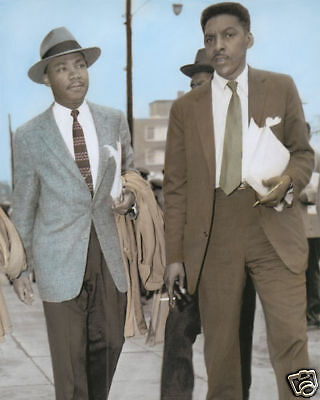 "MARTIN LUTHER KING BAYARD RUSTIN AFRICAN AMERICANS 8x10"" HAND COLOR TINTED PHOTO"