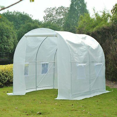 Outsunny 8.2x6.6x6.6ft Plant Growing House Walk-in Tunnel Greenhouse Portable