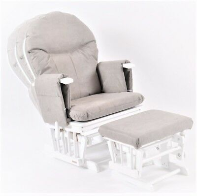 Habebe Recliner Rocking Glider Nursing Chair & Stool WASHABLE COVERS & BRAKE